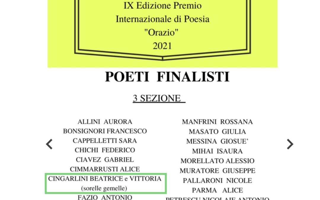 """IX Edizione Premio Internazionale di Poesia """"Orazio"""""""