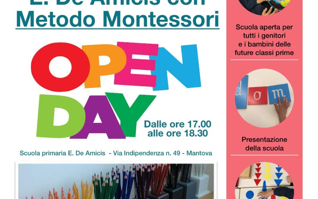 """Open day scuola primaria """"De Amicis"""" con metodo Montessori"""